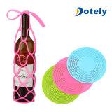 Pique-nique de course de porte-bouteilles de vin de Placemat de couvre-tapis d'isolation de silicones