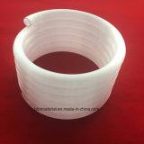 Espiral de sílice fundida del tubo de cuarzo lechoso Lianyungang
