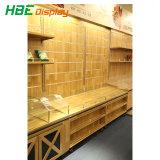 Supermercado Material de madera soporte de la pantalla de almacenamiento Rack estanterías