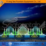 Озеро с помощью мультимедийных операций с плавающей запятой фонтаном
