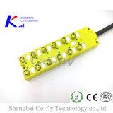 3개의 Pin LED에 의하여 주조되는 RF M8 12 포트 전기 연결관 상자
