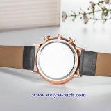Custom Senhoras Couro Relógios sabia de quartzo, Mulher vigilância liga (WY-17044)
