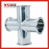 Aço Stainles Medidas Sanitárias SS304 Cruz quatro de Fechamento