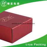 Коробка с окном, коробка одиночного/двойного вина гофрированной бумага упаковывая подарка вина