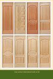 Moulage rouge HDF des graines de cerise de mélamine pour le panneau de porte