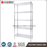 Space Saving 5 Shelf Home Storage Room Adjustable Chromium plates Metal Wire Rack Shelving System