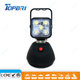 indicatore luminoso ricaricabile del lavoro di 15W LED con il basamento per convenienza