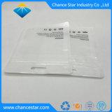 Kundenspezifischer Perlen-Film-wiederversiegelbarer flache Unterseiten-Reißverschluss-Plastikbeutel