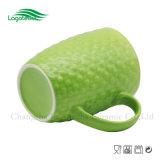 Amichevole Eco- impresso verde della tazza di caffè di figura del timpano