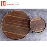 Projeto ajustado barato e agradável redondo de madeira de tabela de chá para a sala de visitas