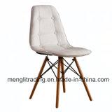 Бесплатный образец белая кнопка обеденный стул