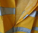 Промысел Rian костюм куртка Rainwear Трость из ПВХ с СВЕТООТРАЖАЮЩИЕ ПОЛОСЫ