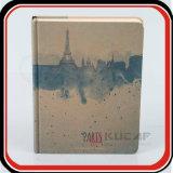 Blocnote van Kraftpapier Hardcover van het Af:drukken van de Folie CYMK van de douane de Zilveren Hete Natuurlijke A5