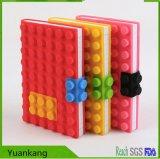 Couverture de livre colorée personnalisée populaire de silicones, cahier Slipcase de silicones