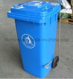 100% de Maagdelijke HDPE Materiële Bak 120liter van het Huisvuil van het Pedaal van de Voet (hebben ook 240Liter met voetpedaal)