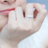 De Juwelen van de Ring van Daimond van het Huwelijk van de Vinger van het Roestvrij staal van de Veer van de manier