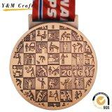 Medaglia di oro attraente di disegno per gli avvenimenti sportivi