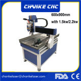 Bom router do CNC do preço 3D com tanque de água (CK-6090)