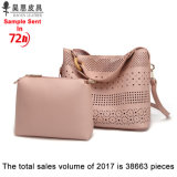 광저우 공장에는 어떤 MOQ 2018 새로운 PU 가죽 패션 디자이너 여자 여성 운반물 숙녀 핸드백도 없이 주식이 있다
