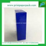 Bleu foncé brillant cosmétiques rigide Case haut de gamme