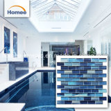 bleu en verre de tuile de piscine de syndicat de prix ferme de tuiles de mosaïque de 8mm