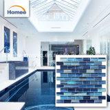 Carreaux de mosaïque de verre bleu piscine piscine mosaïque