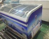 La crème glacée commercial de la poitrine d'affichage de l'île congélateur avec CE, CB pour le stockage de crème glacée