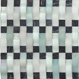Salle de bains et mosaïque en verre lustrée de couleur pure de piscine