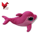 공장 직매 좋은 품질 여자 아기를 위한 연약한 뛰어오르는 돌고래 견면 벨벳 장난감