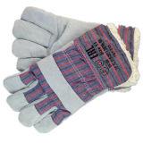 Handschoen van het Werk van de Palm van het Leer van de koe de Gespleten Volledige met volledig AcrylStapel voering-3063. AC