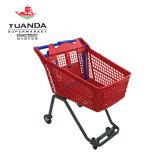 Chariot en plastique de cargaison de chariot à achats de supermarché fabriqué en Chine