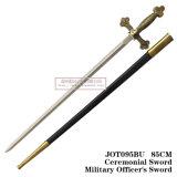 A espada 85cm Jot095bu do oficial do exército cerimonial da espada da espada do cavaleiro da espada das cruzadas