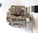 Kugelventil der Form-Edelstahl-Innengewinde-hohes Plattform-3PC