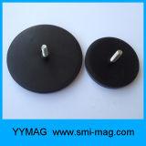 Magnete rivestito di gomma permanente personalizzato di NdFeB