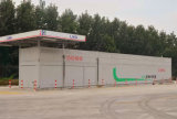 Ayuna la estación que aprovisiona de combustible móvil del GASERO del terraplén