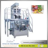 Máquina de embalagem de peso de enchimento giratória dos pulsos automáticos com pesador de Multihead
