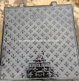 Couverture de trou d'homme circulaire du fer En124 malléable avec le verrouillage fabriqué en Chine