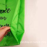 선전용 재생한 OEM 도매는 인쇄한 방수 폴리에스테 나일론 Foldable 접히는 쇼핑 끈달린 가방을 주문을 받아서 만들었다