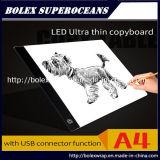 Design ultrafino de rastreamento de LED da placa de cópia A4/ Kids levou a escrever Boards/ Tracing Caixa de Luz