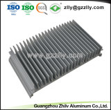 Usine ailettes en aluminium anodisé dissipateur thermique pour lampe à LED