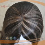 Parrucca superiore di seta di qualità superiore dei capelli umani (PPG-l-01613)
