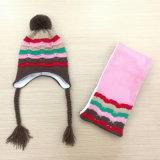 Шарф шлема шарфа Earmuff зимы детей малышей теплым связанный комплектом (SK423S)