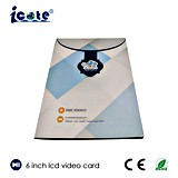 Vente chaude 6 carte de voeux visuelle d'affichage à cristaux liquides de métier de papier de taille de l'écran A4 de pouce