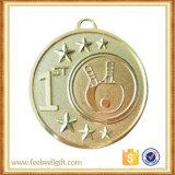 Emblema de encargo de la corrección de la medalla del emparejamiento del tenis de vector