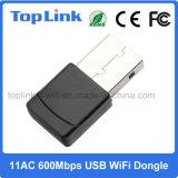 802.11AC 600Mbps 2.4G/5g удваивают переходника USB WiFi радиотелеграфа полосы высокоскоростной