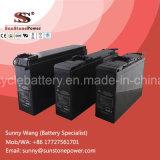 La tensión de 12VCC Terminal frontal de la batería SLA de baterías industriales