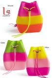 Sacs à dos imperméables à l'eau de plage de Bagssummer de course de sac d'école de piste d'arc-en-ciel de sac à dos de cordon de silicium