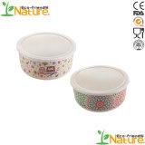 Хорошего качества пластика рисовая лапша раунда закуска чашу Composable закончились смертельным исходом бамбуковые волокна Чаша с крышкой
