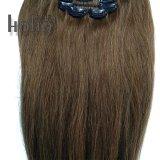 最上質のブラウンセットの人間の毛髪の拡張の20インチクリップ