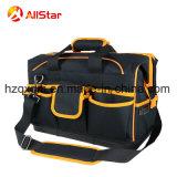 堅いベースが付いている大きい容量ポリエステル道具袋のショルダー・バッグおよび開いた口のための鋼線